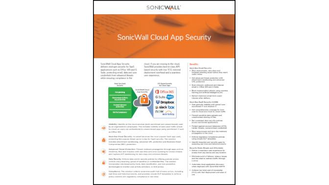 Cloud App Security SonicWall